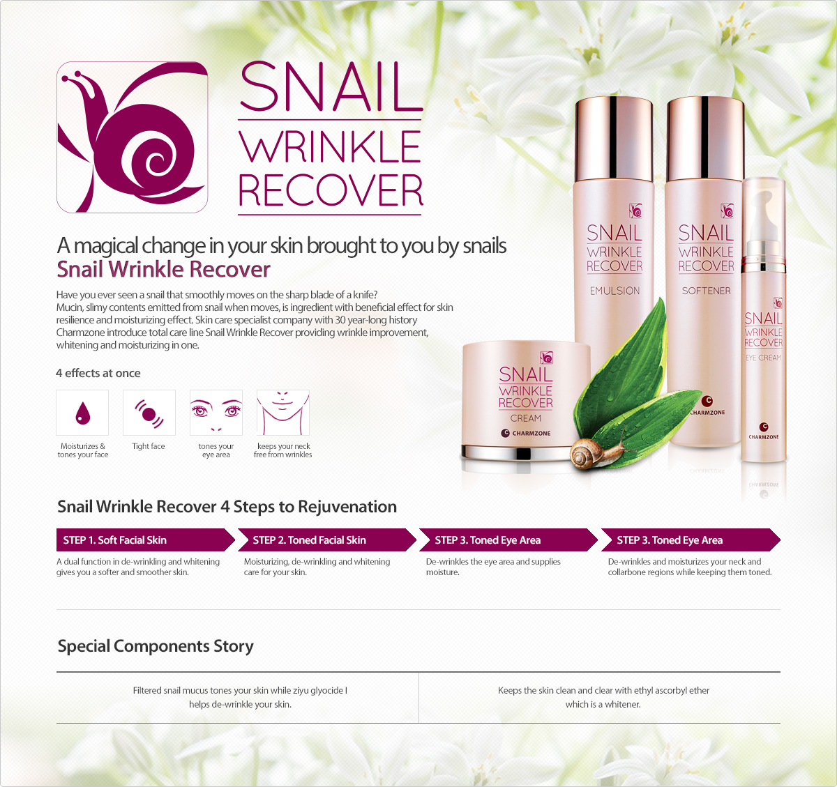 Snail Wrinkle Recover banner